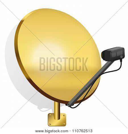 Satellite Dish Golden Color