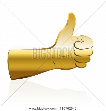Thumbs Up Gold