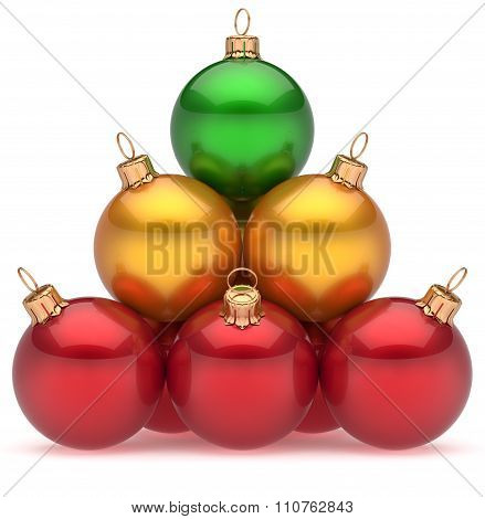 Christmas Balls Pyramid Top Green Leader First Place Winner