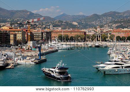 View of the Port De Nice.