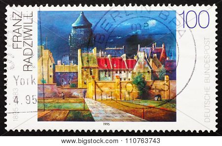 Postage Stamp Germany 1994 The Water Tower In Bremen, By Franz R