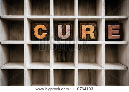 Cure Concept Wooden Letterpress Type In Draw