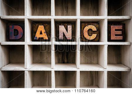 Dance Concept Wooden Letterpress Type In Draw