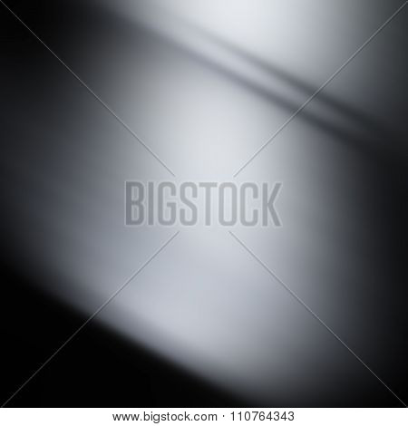 Gray And Black Background Or Luxury Gray Background Abstract White Corner Light And Vintage Grunge B