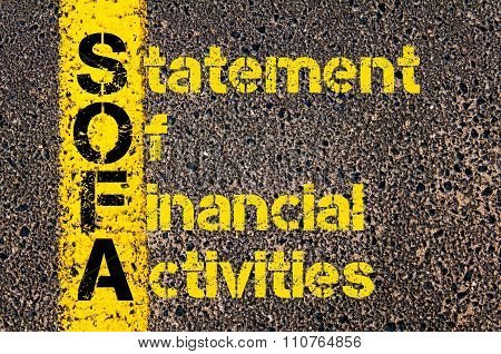 Accounting Business Acronym Sofa Statement Of Financial Activities