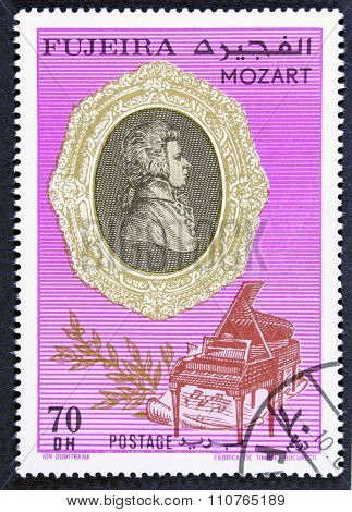 Musicus on a postage stamp