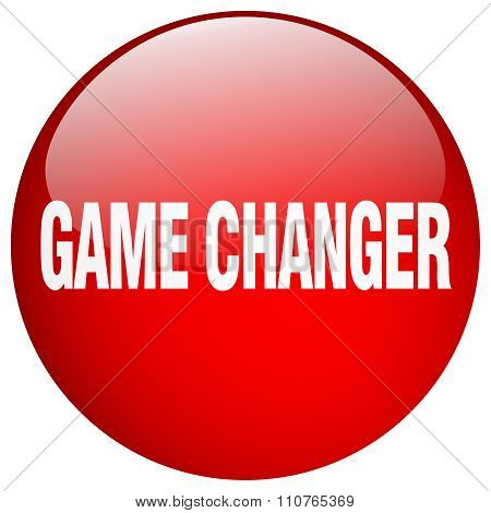 Game Changer Red Round Gel Isolated Push Button