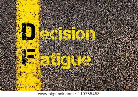 Business Acronym Df Decision Fatigue