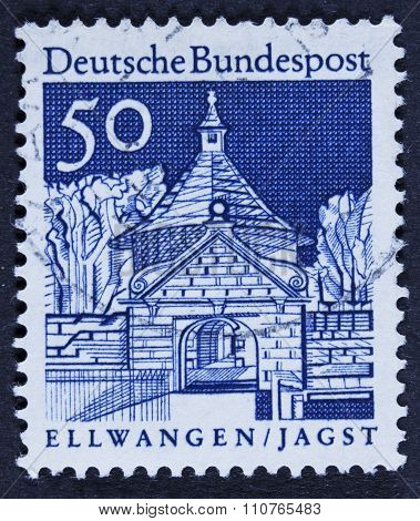 Famous architect on a stamp