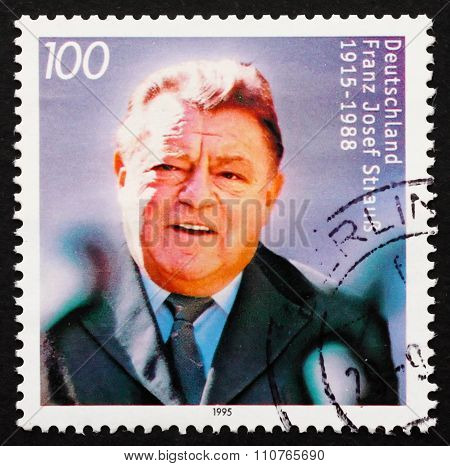 Postage Stamp Germany 1995 Franz Josef Strauss, Politician