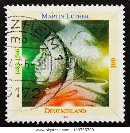 Postage Stamp Germany 1996 Martin Luther German Priest