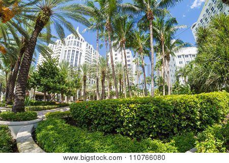 MIAMI,USA - AUGUST 8,2015 : The luxurious Loews Miami Beach Hotel in Miami Beach
