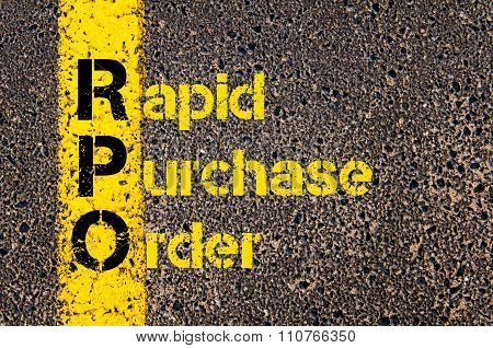 Accounting Business Acronym Rpo Rapid Purchase Order