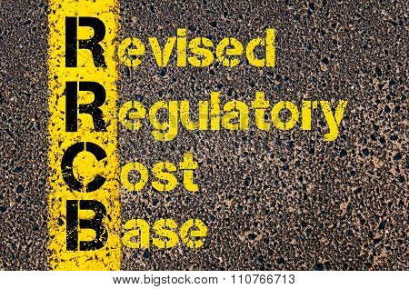 Accounting Business Acronym Rrcb Revised Regulatory Cost Base