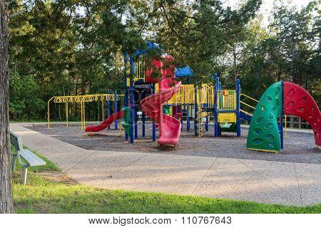 Modern playground equipment