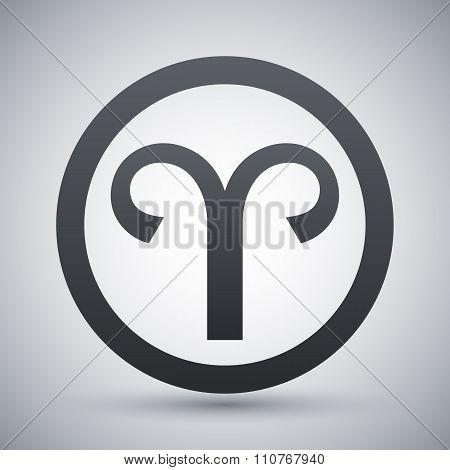 Vector Zodiac Sign Aries