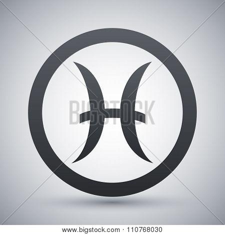 Vector Zodiac Sign Pisces