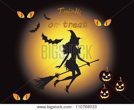 Happy halloween background witch