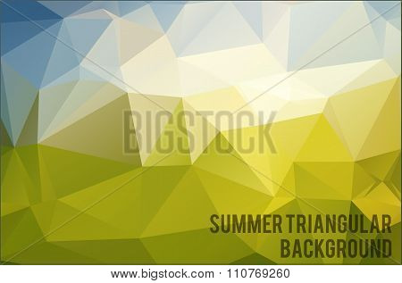 Abstract triangle vector background. Vector Illustration, eps10,