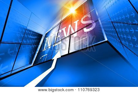 Modern Digital World News Background