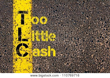 Accounting Business Acronym Tlc Too Little Cash