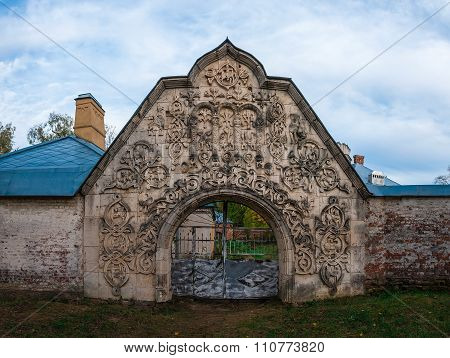 Gateway to the abandoned medieval manor