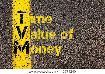 Accounting Business Acronym Tvm Time Value Of Money