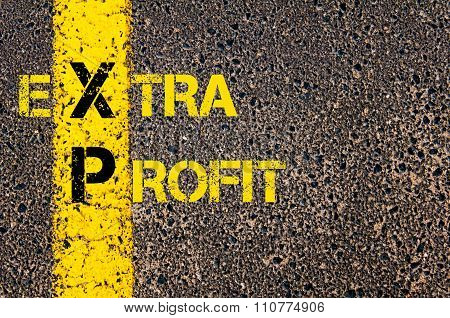 Accounting Business Acronym Xp As Extra Profit