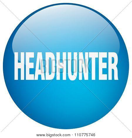 Headhunter Blue Round Gel Isolated Push Button