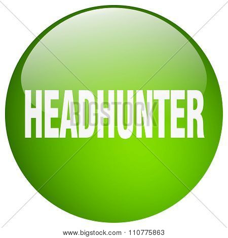 Headhunter Green Round Gel Isolated Push Button