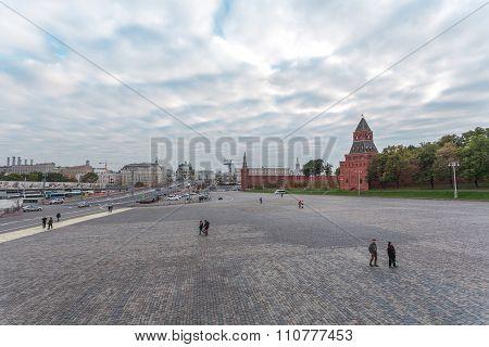 View from Vasilevsky Descent