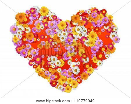 Heart Sahpe With Flowers