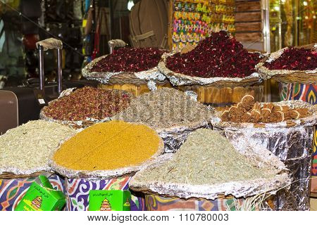 Colorful Seamless Texture With Food Spices And Herbs, Sharm El Sheikh