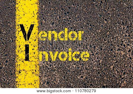 Accounting Business Acronym Vi Vendor Invoice