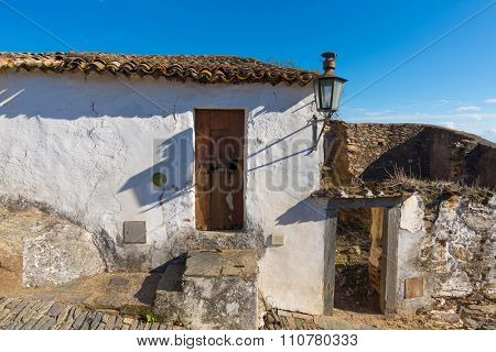 Detail of an old abandoned house in Portugal, Alentejo region