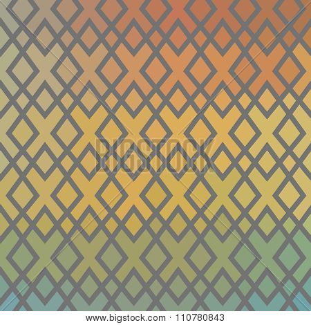 Ethnic chequered texture. Abstract geometric vector background. Illustration for web design, prints