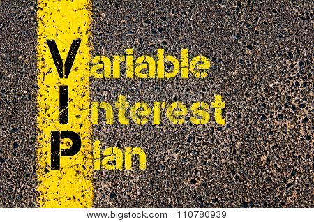 Accounting Business Acronym Vip Variable Interest Plan