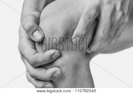 Pain in a male knee
