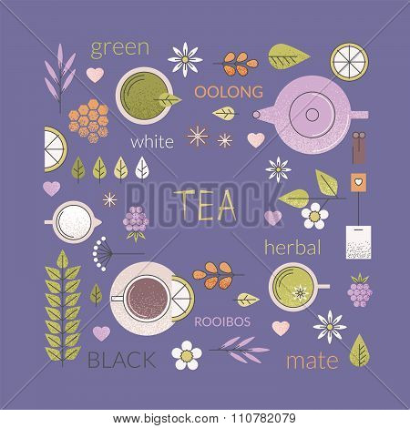 Tea culture background