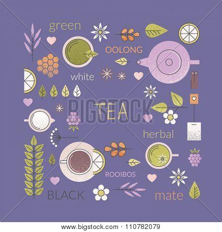 Tea culture background