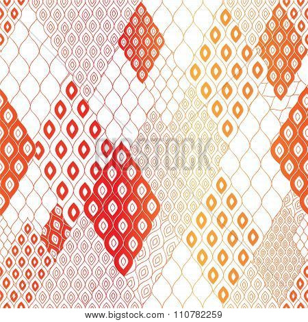 Stock Vector Seamless Abstract Pattern.color Shape