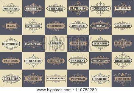 Mega set of 30 labels and banners