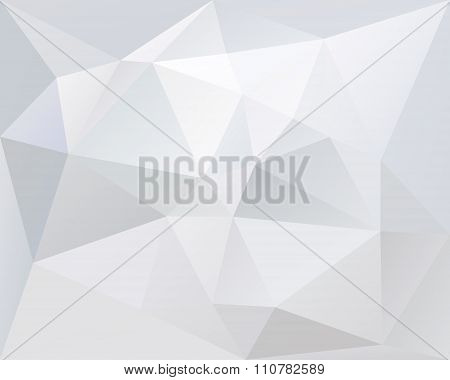 White Polygonal Triangle Vector Background, Light And Pale Color Texture, In Vector