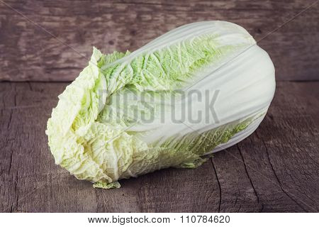 Chinese Cabbage On Old Table