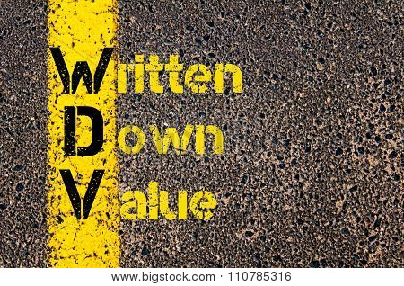 Accounting Business Acronym Wdv Written Down Value