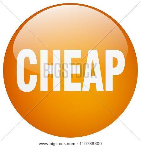 Cheap Orange Round Gel Isolated Push Button