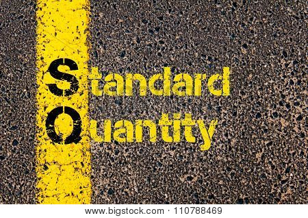 Accounting Business Acronym Sq Standard Quantity