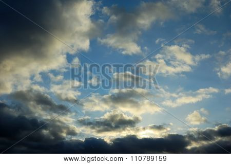 The Sky With Dark Clouds