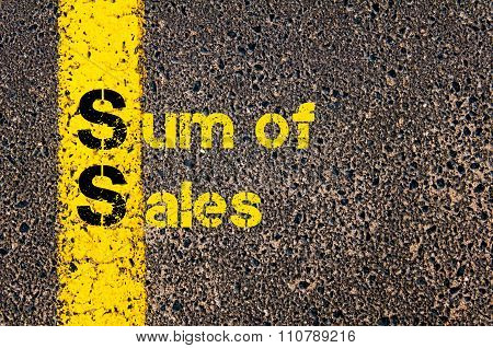 Accounting Business Acronym Ss Sum Of Sales