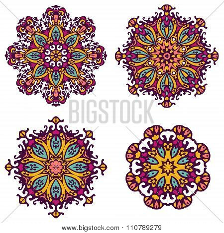 round ornaments, patterns and elements.Mandala background